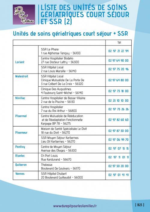 B23 unites de soins geriatriques court sejour ssr 3