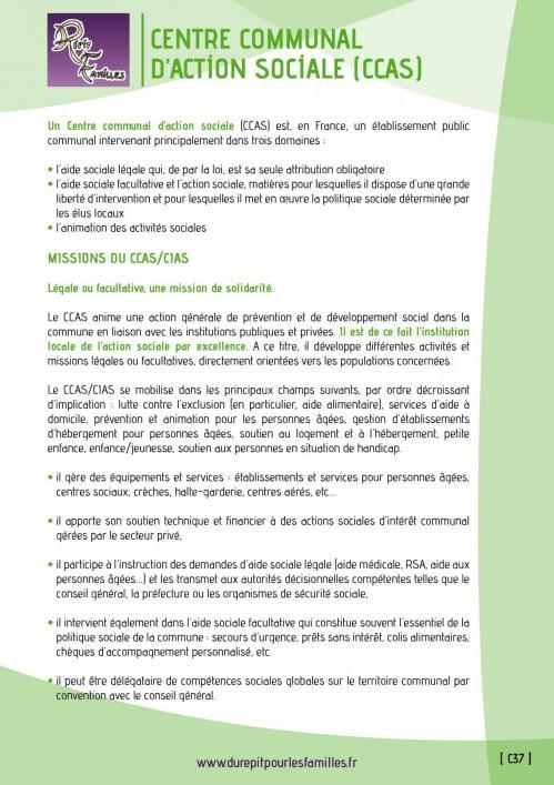C37 centre communal d action sociale ccas