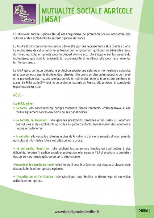 C40 b mutualite sociale agricole msa