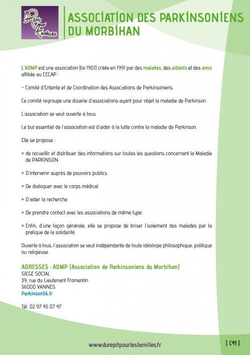 C41 association des parkinsoniens du morbihan